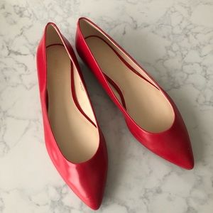 Nine West Brand New Red Pointy Flats Size 11